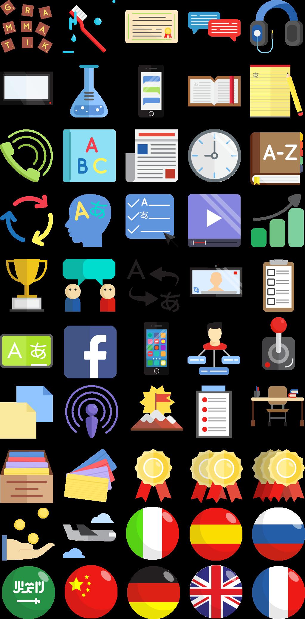 IconSet für Sprachblogger und SprachenlernPortale Icon