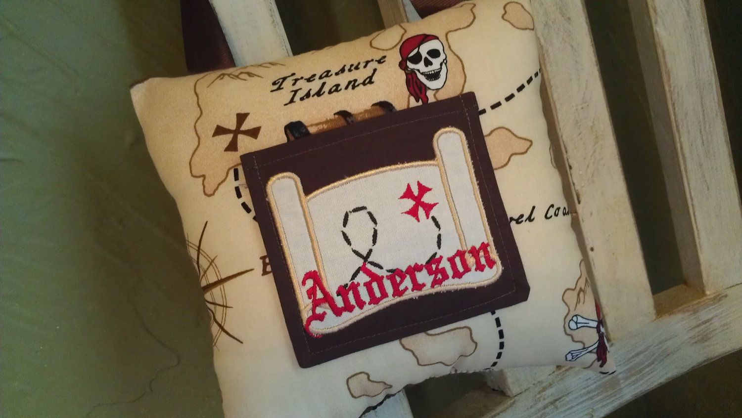 Pirate Tooth Fairy Pillow. $14.99, via Etsy.