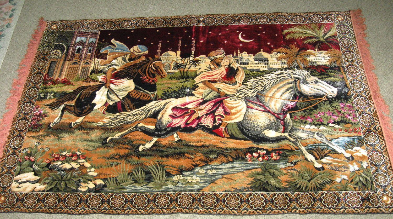 Vintage Arabian Nights Huge Tapestry Rug Wall Hanging Arabic Etsy Rug Wall Hanging Tapestry Arabian Nights