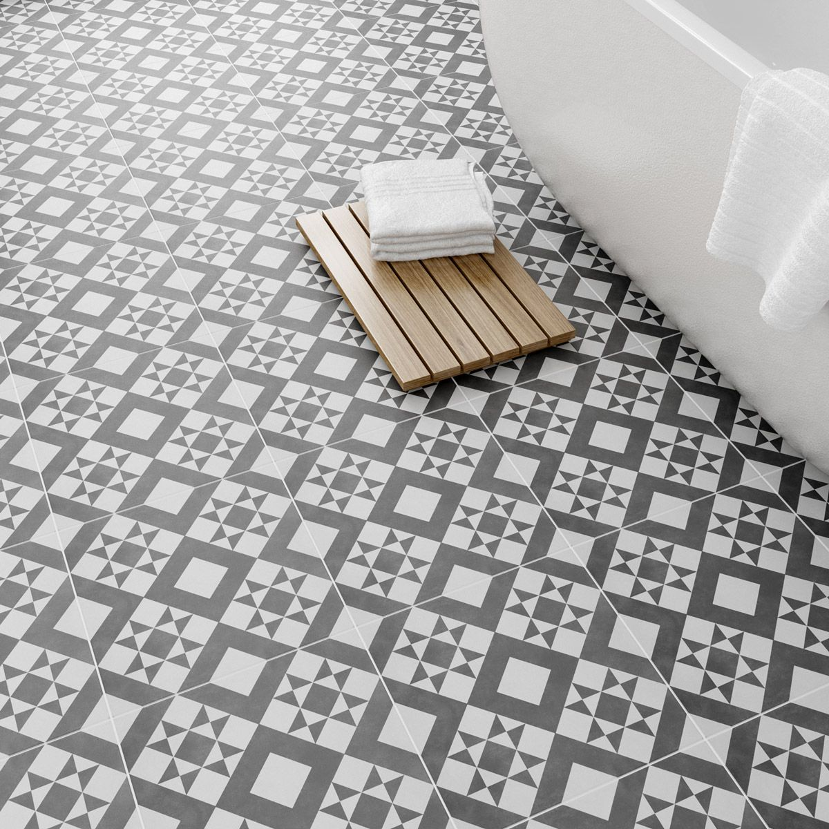 See Our British Ceramic Tile Retro Feature Floor Tile 331mm X 331mm Plus Many More Floor Tiles At Victo Patterned Floor Tiles Tile Floor Cleaning Ceramic Tiles