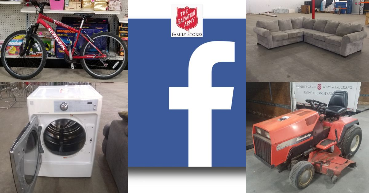 Check Out Our Inventory Online Search Salvation Army On Facebook Marketplace To Browse What We Have Available And Get A 10 Discount At Checkout When You Men