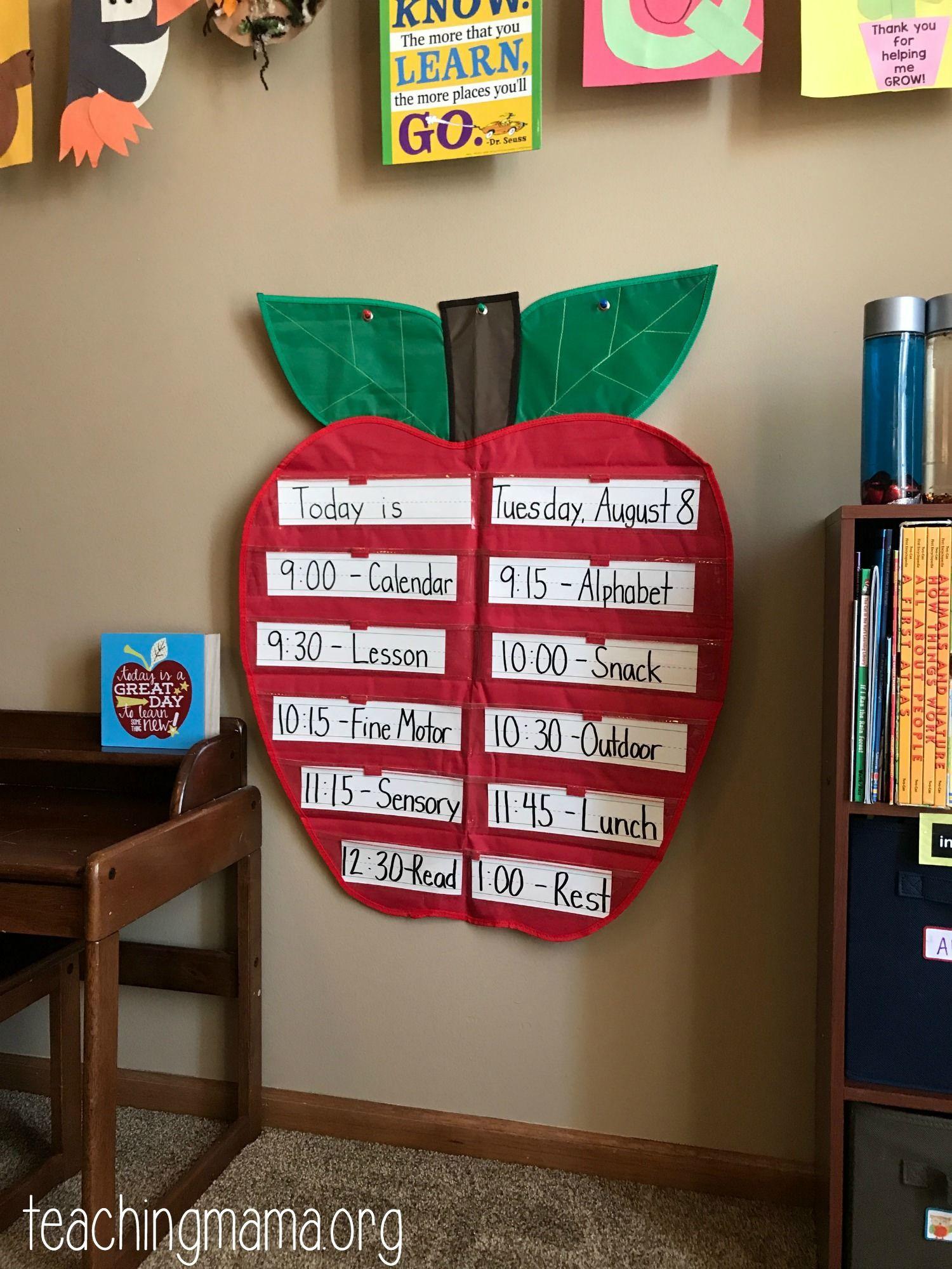 Photo of Home Preschool Organization