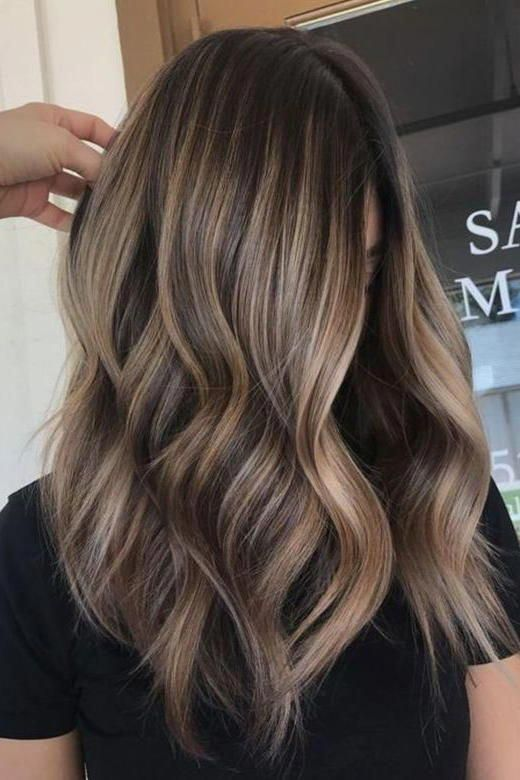 Sunkissed  This version is the closest thing youll get to a sunkissed ashy look thanks to light neutral blonde balayage throughout the dark mocha mane This approach will...