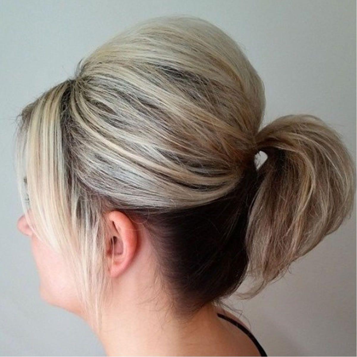 Kreative Haarfarbe Ideen Fur Mittellanges Haar Pferdeschwanz Fur