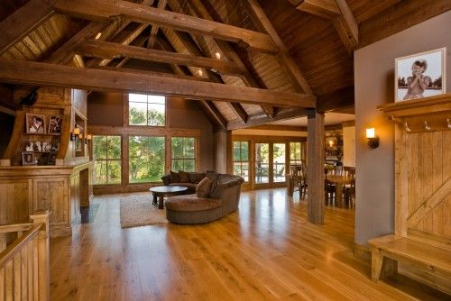 Open Floor Plan Wood Interior Modern Farm House Barn
