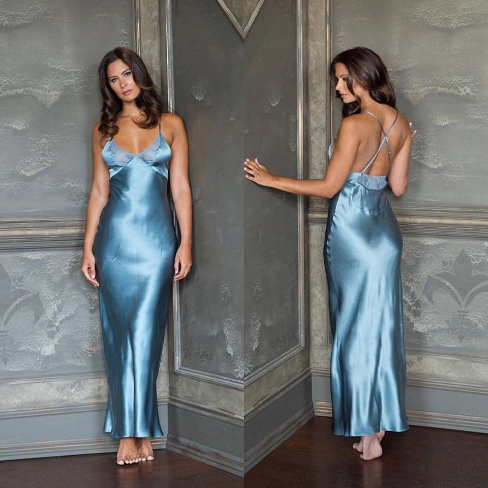 Embedded nightie pinterest satin satin dresses and nightgown