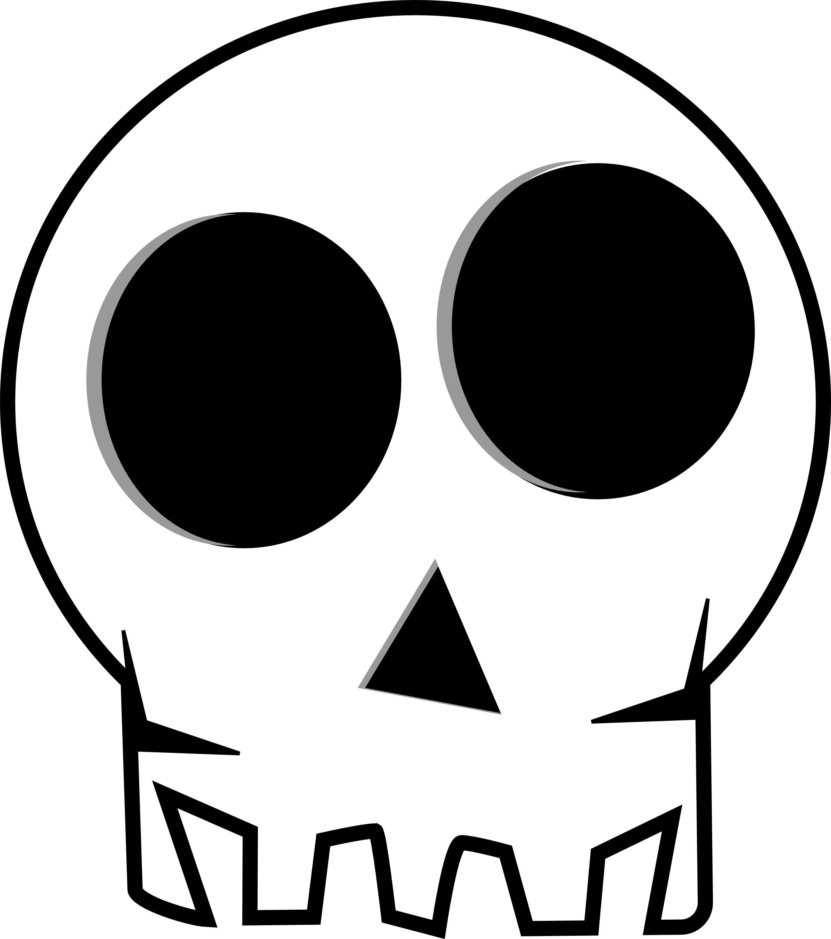Huge Eye Socketed Skull Free Halloween Vector Clipart