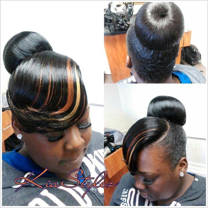pin flawless hair buns & updo's