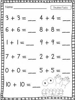 doubles kids worksheets first grade first grade worksheets addition worksheets first grade. Black Bedroom Furniture Sets. Home Design Ideas