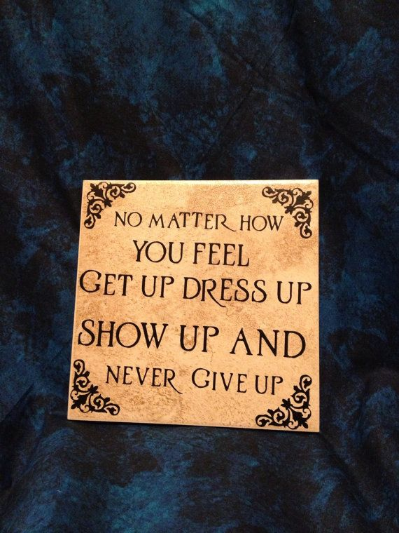 Never Give Up Tile by Berwickbay on Etsy, $9.95