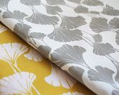 Yellow + grey  like this for valence in dining room! Gela keep eye out!