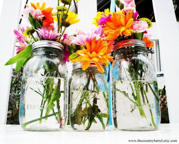 pinterest tin can vases, pinterest crafts vases, fall mason jar vases, on mason jar flower vase pinterest