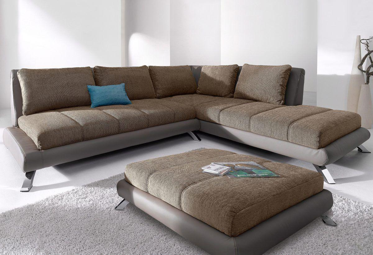 Wohnzimmer Eckcouch, ecksofa braun, ottomane rechts, fsc®-zertifiziert, yourhome jetzt, Design ideen