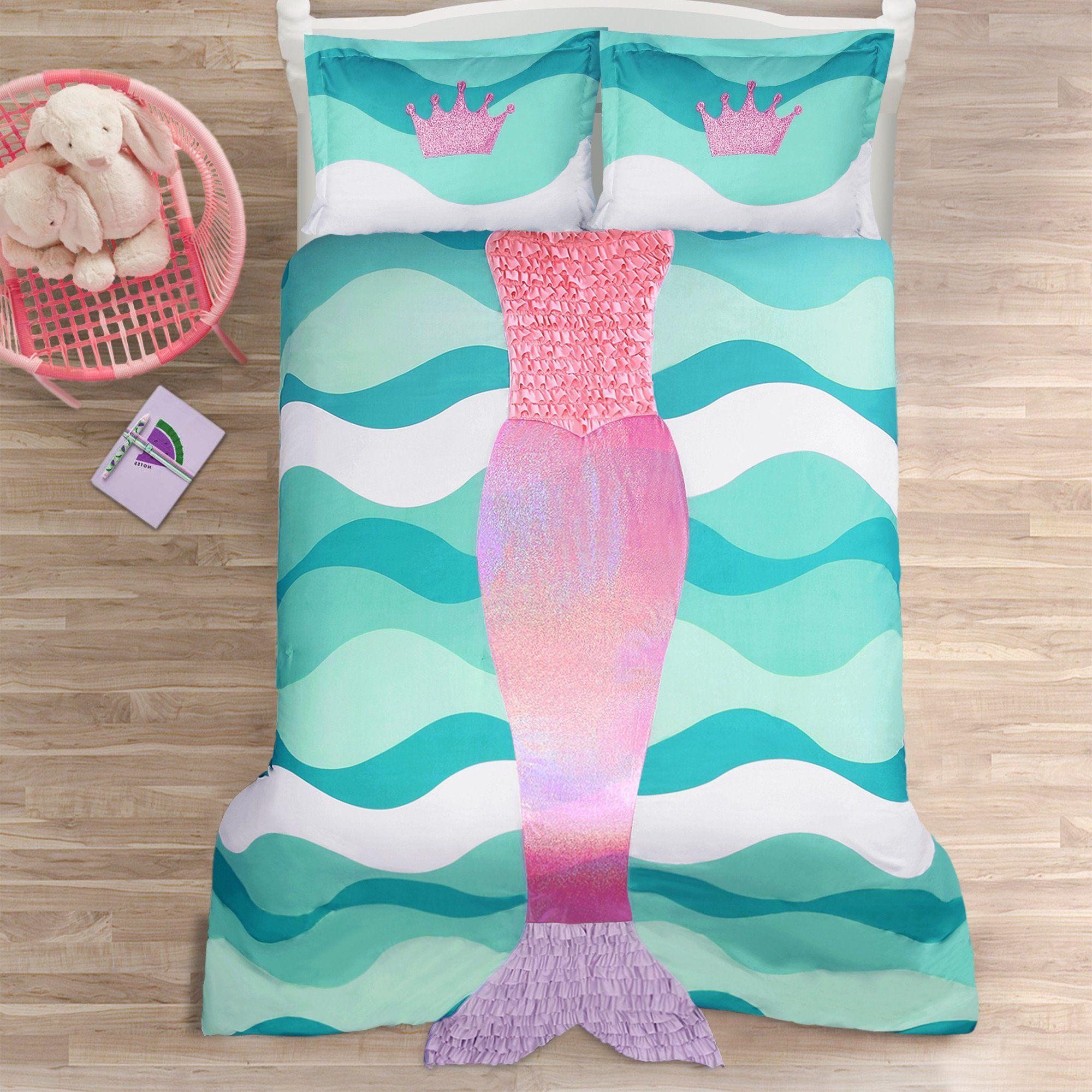 Mermaid Ruffle forter 2 Piece Set