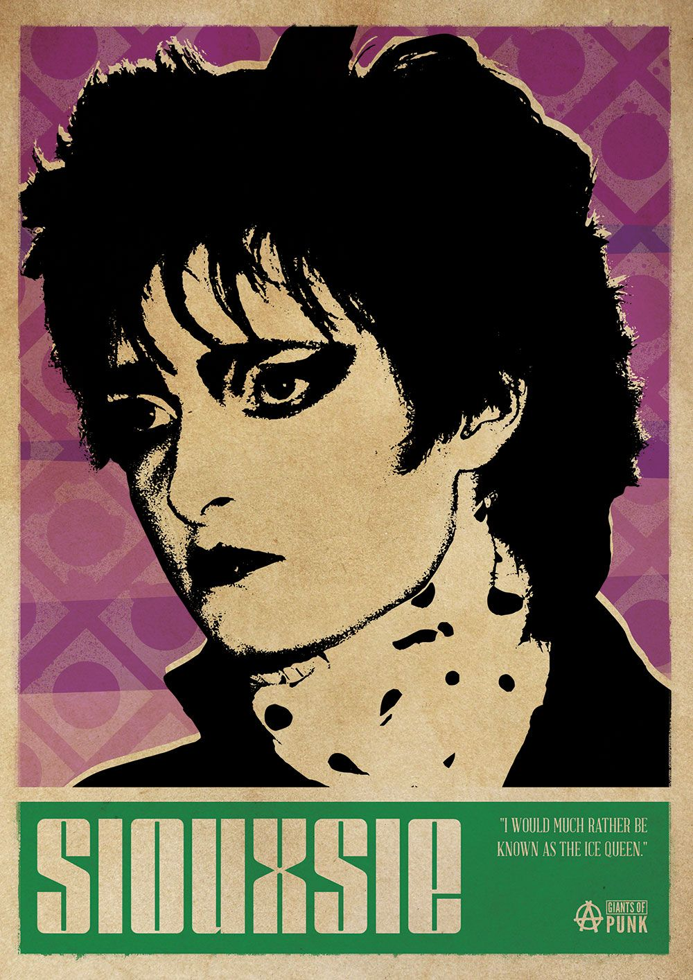 Siouxsie Sioux Banshees Punk Poster