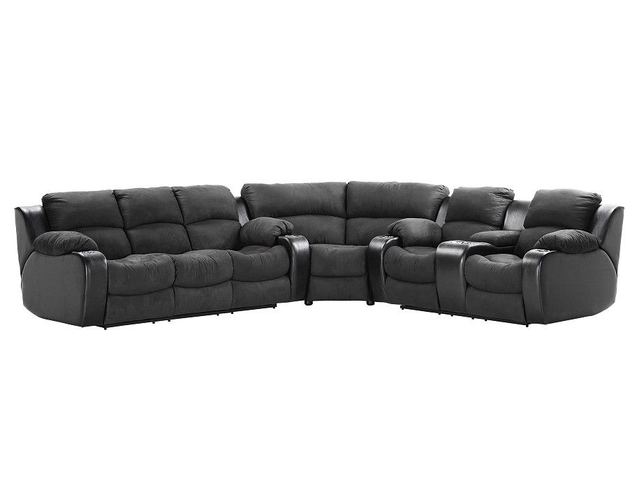 Slumberland | Grand Collection - Onyx Power Loveseat Sectional