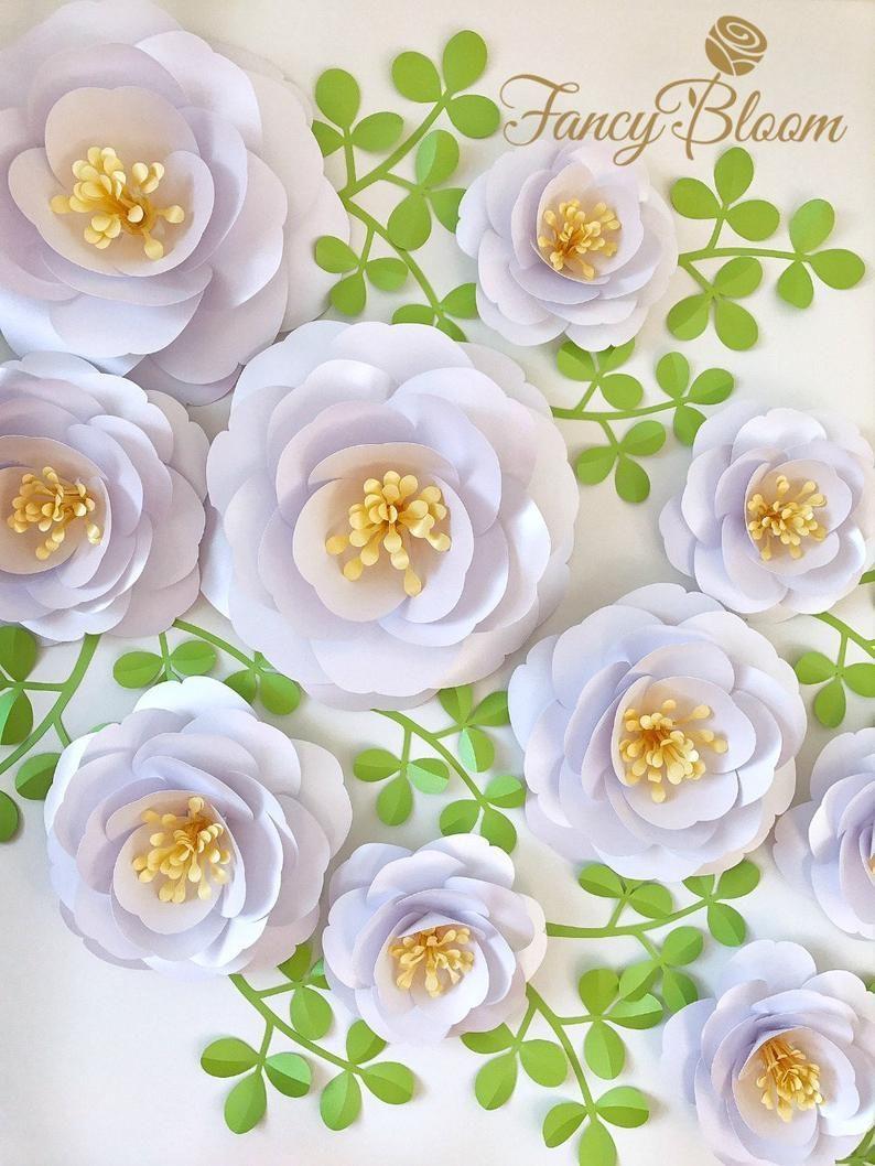 Paper Flower Set/ Giant Paper Flowers/ Large Paper Flowers/ Paper Flower Backdrop/ Wedding Ba... #giantpaperflowers