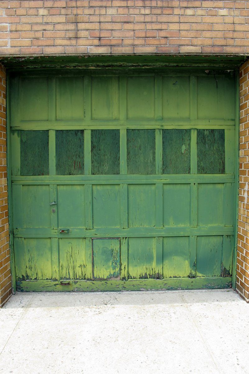 Green Door Overhead Garage Door Overhead Garage Garage Doors