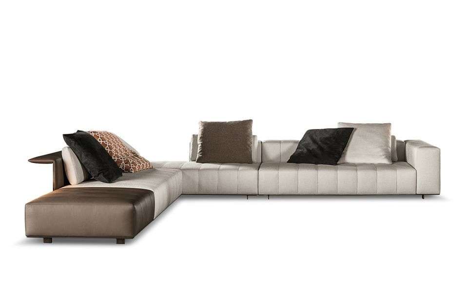 Freeman Tailor Minotti Sofa Chaise Lounge Sofa Sofa