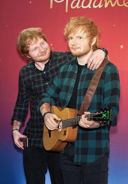 causeyoucanhearitinthesilence: Ed Sheeran unveils new wax figure at Madame Tussauds (May 28, 2015)