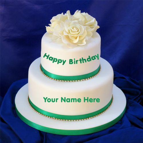 Write Name On Double Decker Cake Online Free Sekhar Cake Name