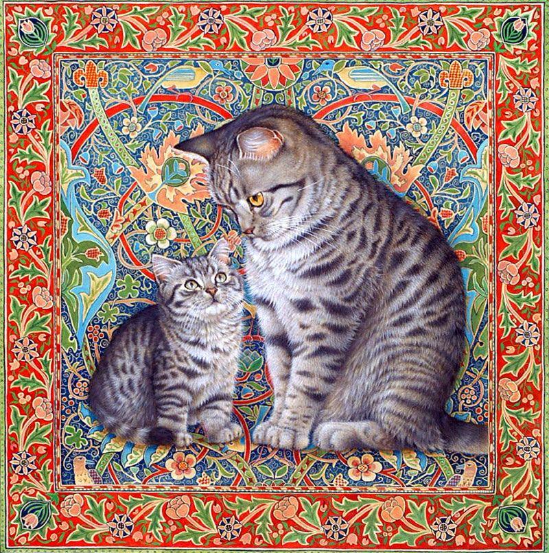 декупажные картинки с кошками личности