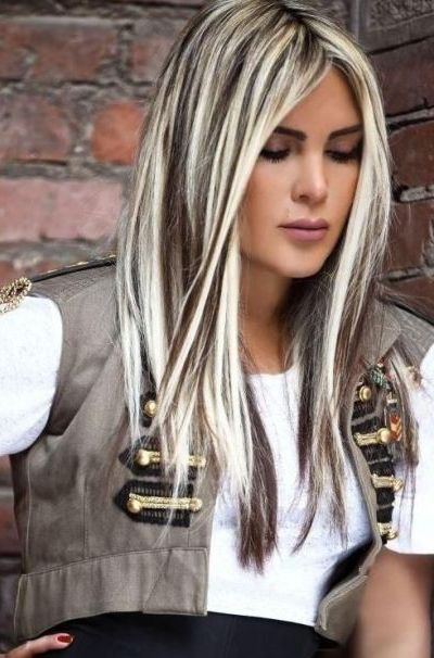 Platinum blonde with black highlights hairdooz pinterest platinum blonde with black highlights pmusecretfo Images