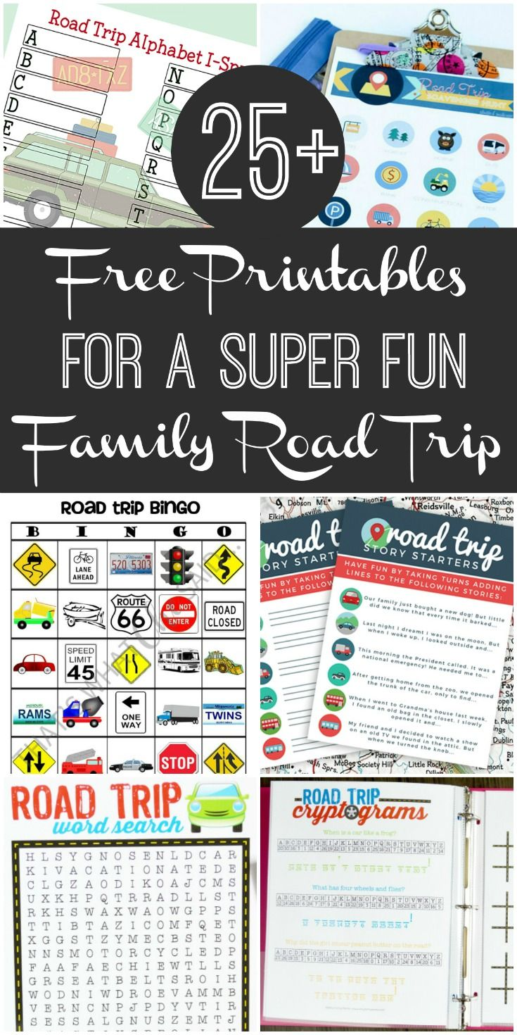 25+ Free Road Trip Printables for a Truly Fun Family Car
