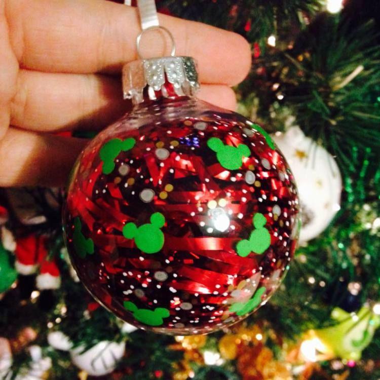 Diy Mickey Mouse Christmas Ornaments Bolas De Natal Enfeites De
