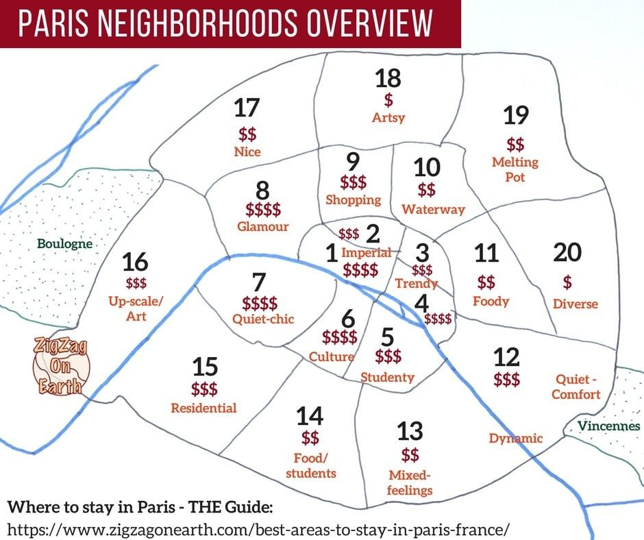 Best Places To Stay In Paris Map Neighborhoods