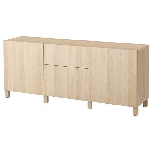 BESTÅ storage unit with drawers, Hanviken black-brown, …