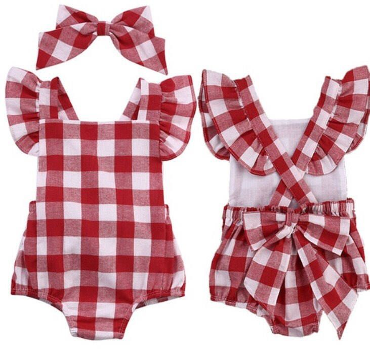 b3559472e1f1 Gender  Girls Clothing Length  Regular Sleeve Style  Regular Pattern  Plaid  Style  Occident Material  Cotton Blend Sleeve Length  Sleeveless Package  Romper ...