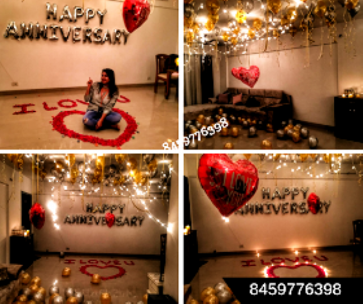 Surprise Husband On Birthday Room Decorations Diy Wall Birthday Surprise For Husband Birthday Decorations At Home Birthday Decorations