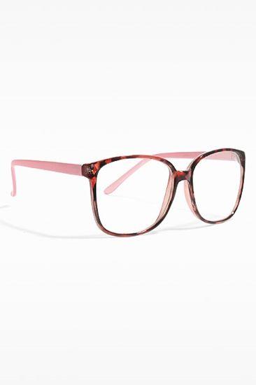 a2baebb40 Akira  Thin Frame Clear Wayfarer Glasses - Berry Tortoise Pink ...