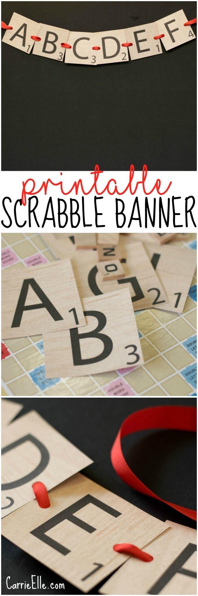 Scrabble Letter Printable Banner  Mommy Solutions