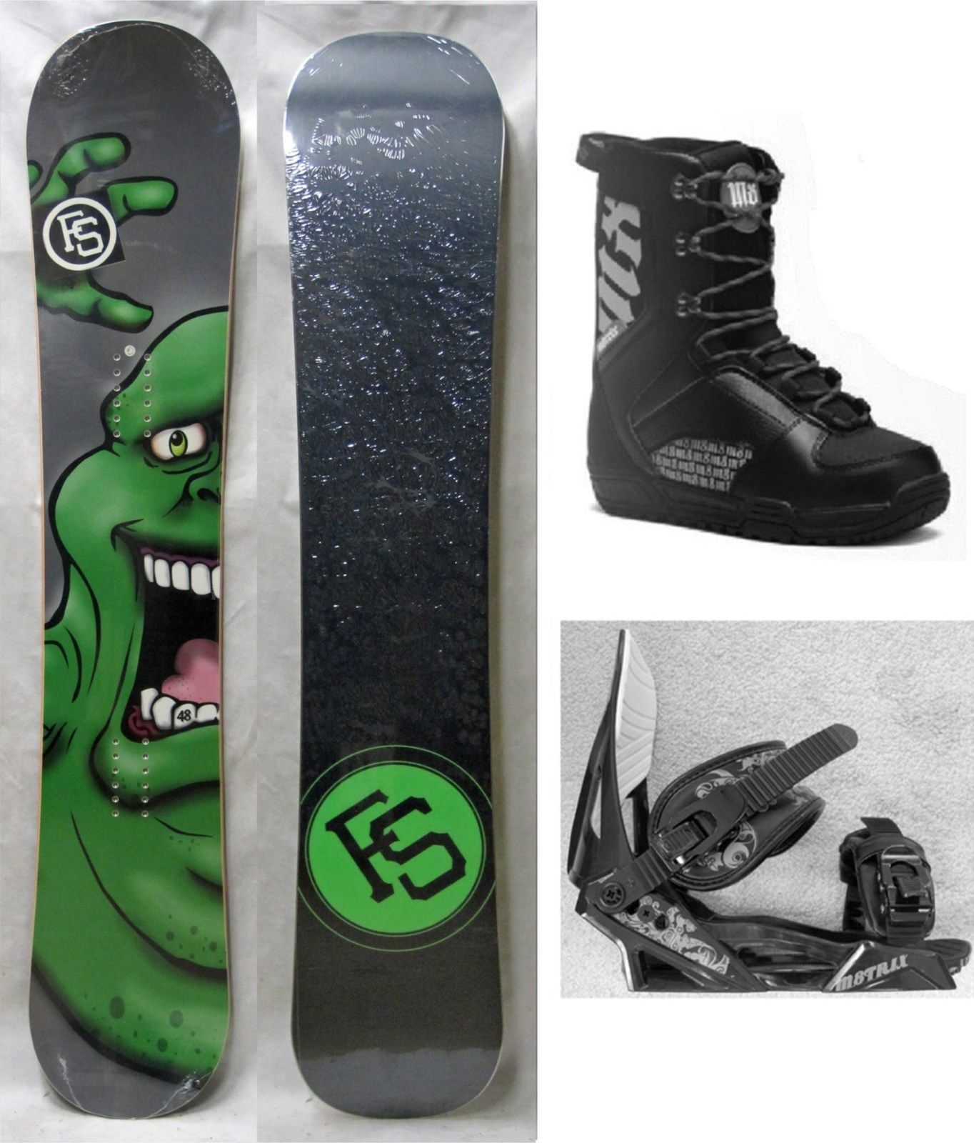 New Fs Snowboard, Bindings, Boots Package