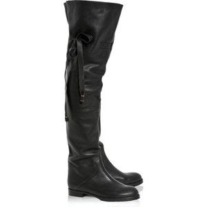 Black Thigh High Flat Boots | Thigh High Flat Boots | Boots, Boots ...