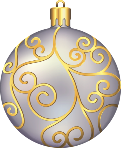 Large Transparent Silver and Gold Christmas Ball ...