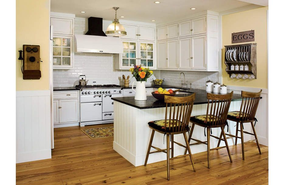this kitchen was given an old time aesthetic with lightly distressed cabinetry simple hardware on kitchen interior classic id=21221