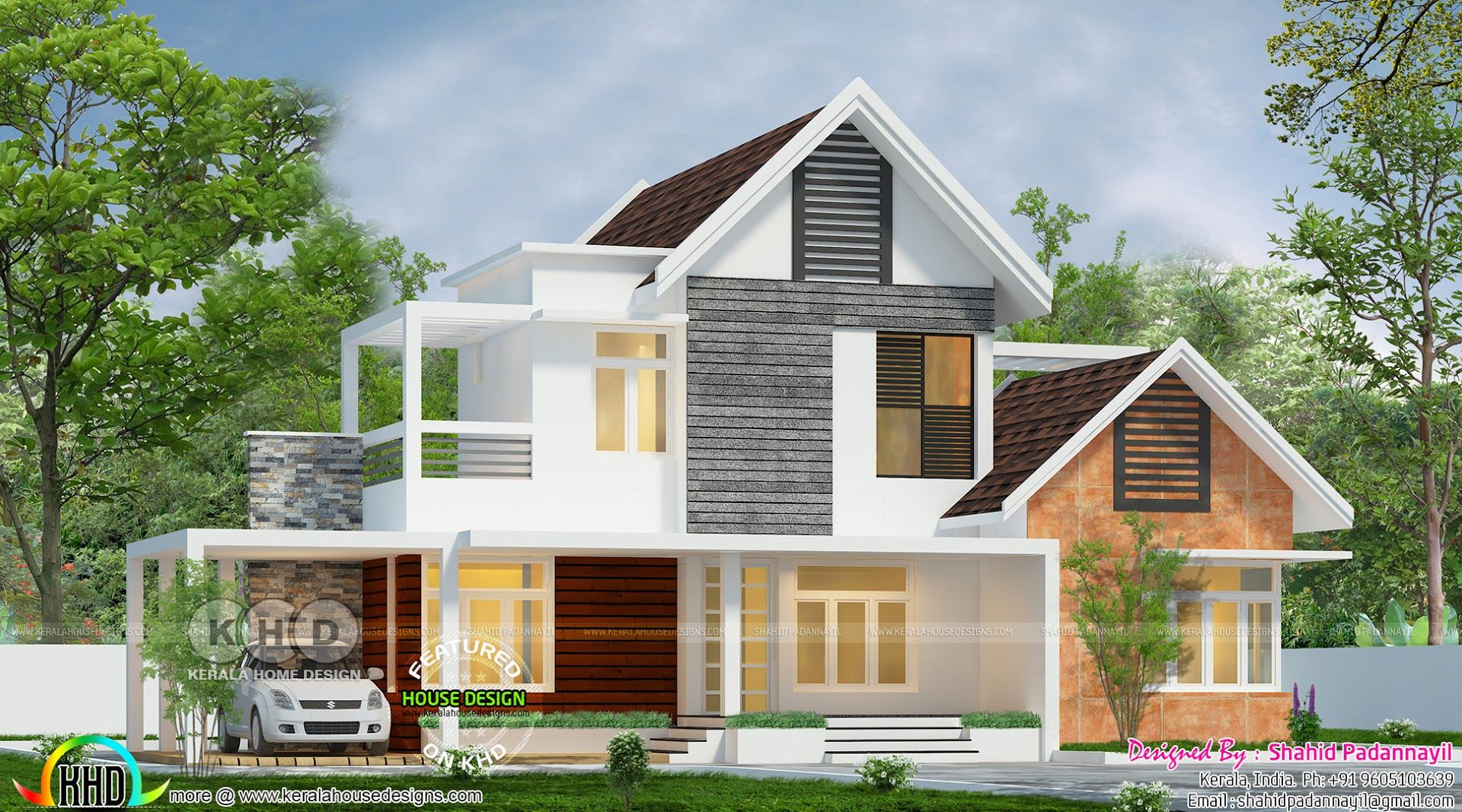 Beautiful Mixed Roof 3 Bedroom House Kerala House Design House