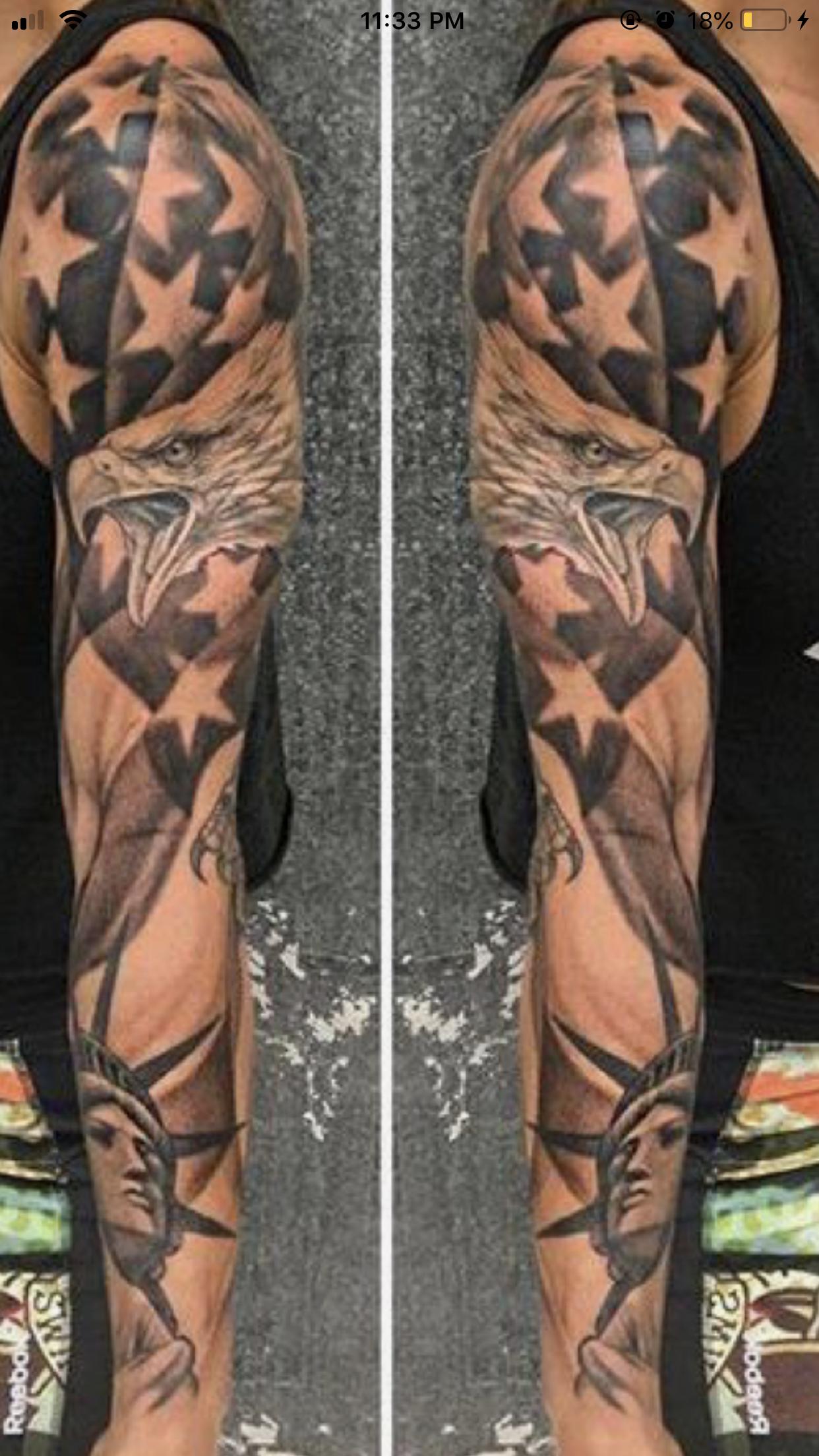 Patriotic Sleeve Tattoos