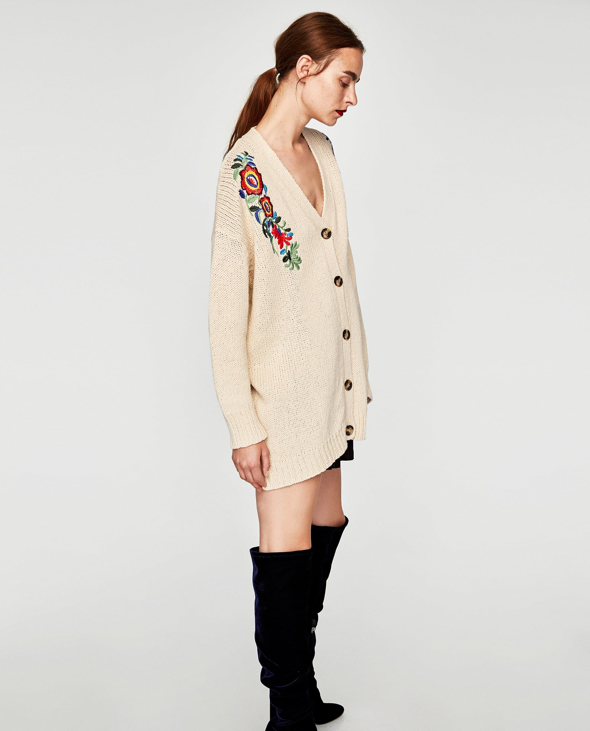 d3744fea Image 3 of JACKET WITH FLORAL EMBROIDERY from Zara Zara, Floral Embroidery,  Knitwear,