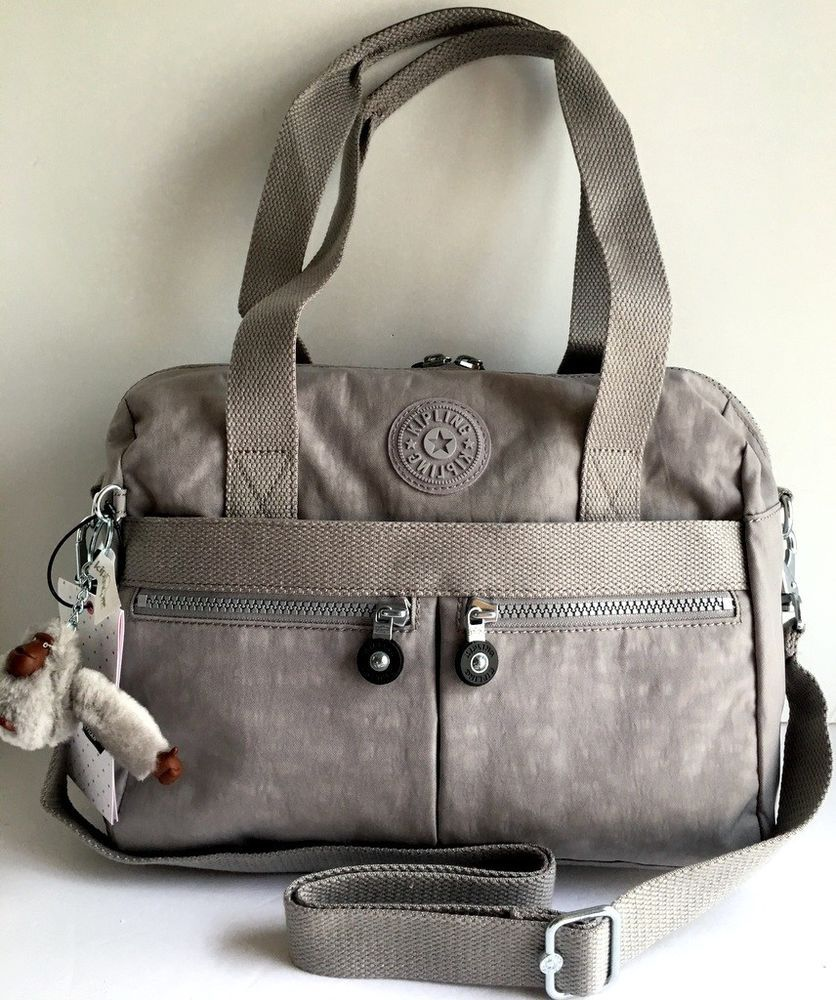 f1b9d9fd3 NEW KIPLING Klara Satchel Crossbody Shoulder Travel Bag Slate Gray Nylon  HB7240 #Kipling #Crossbody