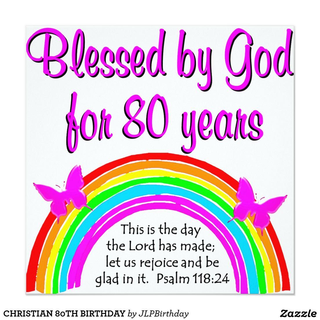 Christian 80th birthday card birthday