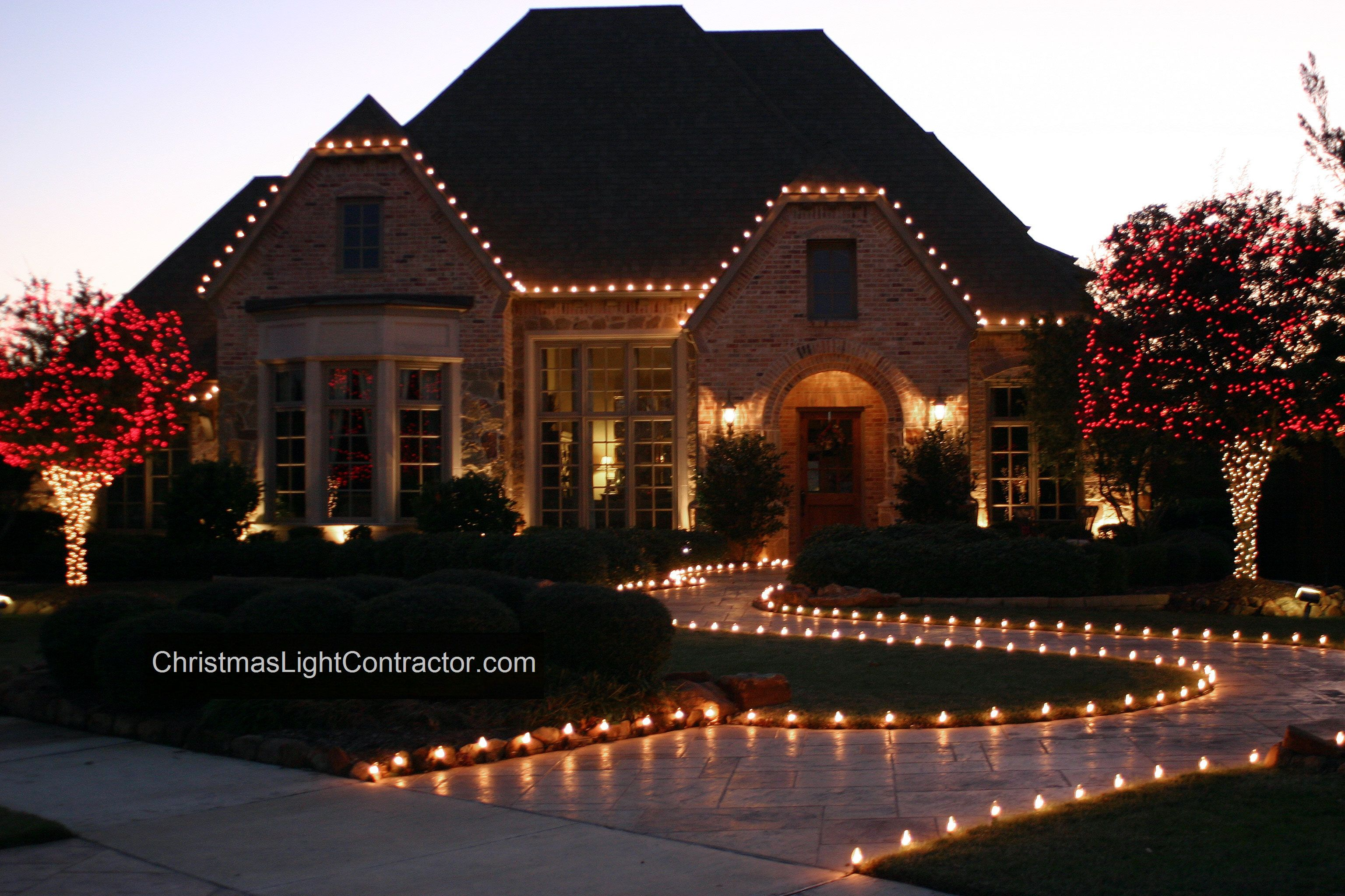 Red And White Christmas Lights.Red White Christmas Outdoor Lights Professional