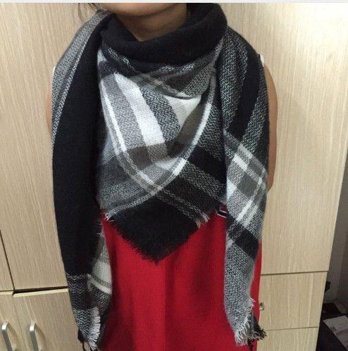 c3715a4e1 Triangular Scarf Acrylic Pashmina Fashion Tassels Plaid Shawl Warm Winter  For Women Item Type: Scarves Gender: Women Department Name: Adult Brand  Name: ...