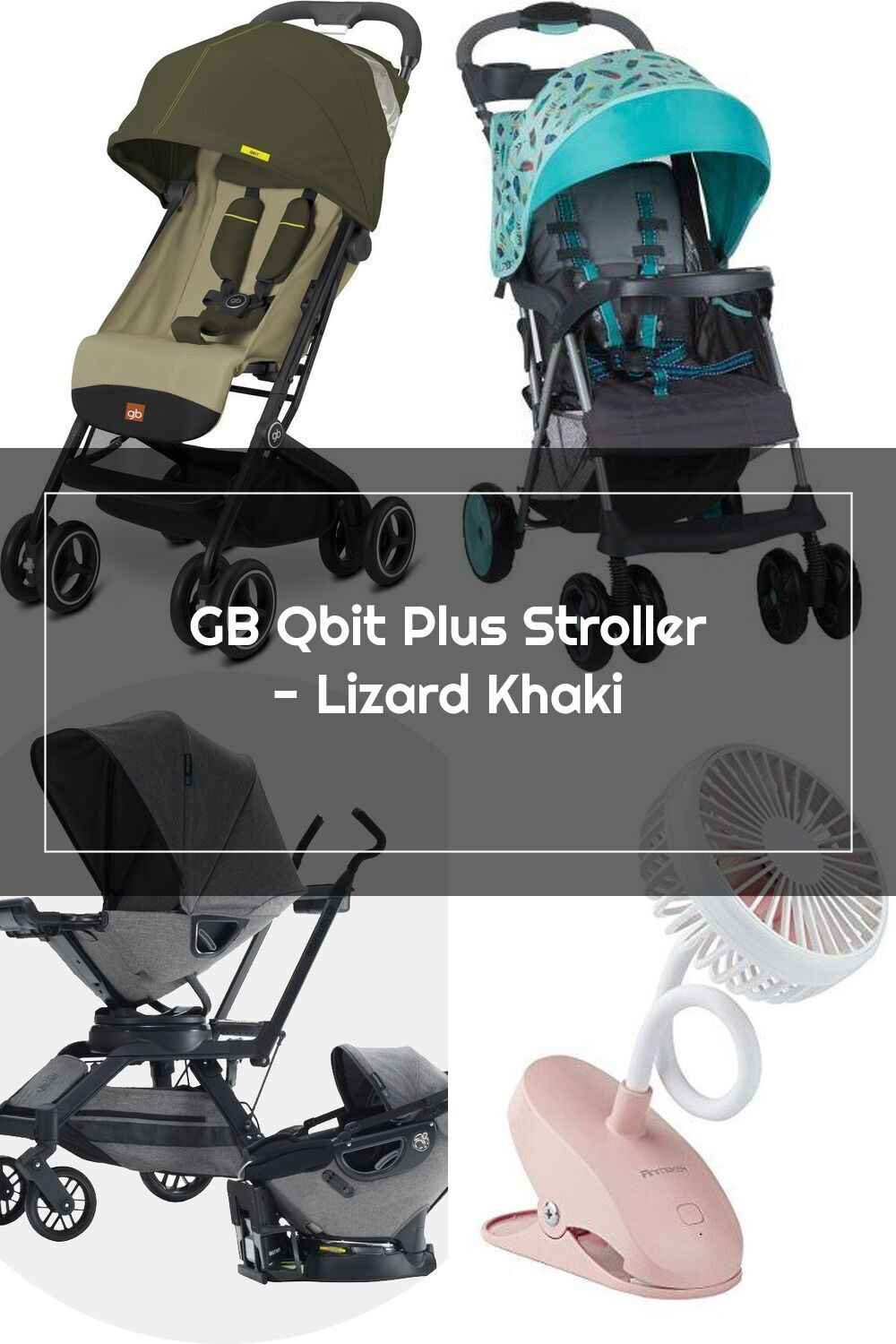 GB Qbit Plus Stroller Lizard Khaki in 2020 Baby