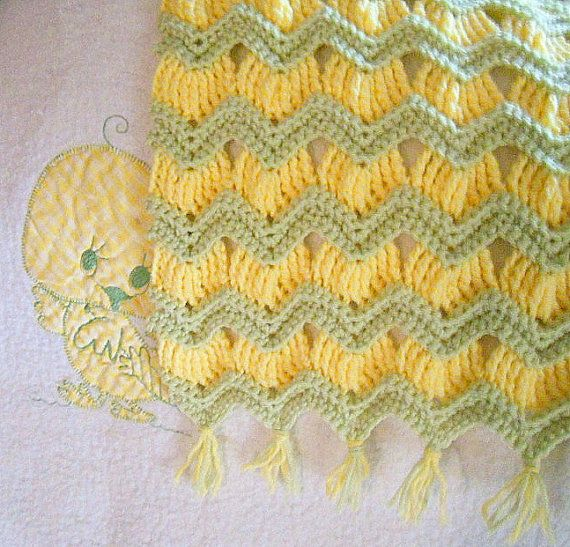 Instant download - Crochet Pattern - Grandma\'s Ripple Baby Afghan ...