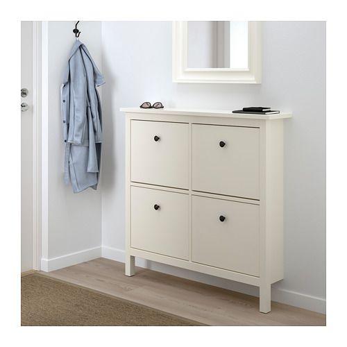 hemnes schuhschrank 4 f cher wei wei 107x101 cm evi hemnes schuhschrank schuhschrank und. Black Bedroom Furniture Sets. Home Design Ideas