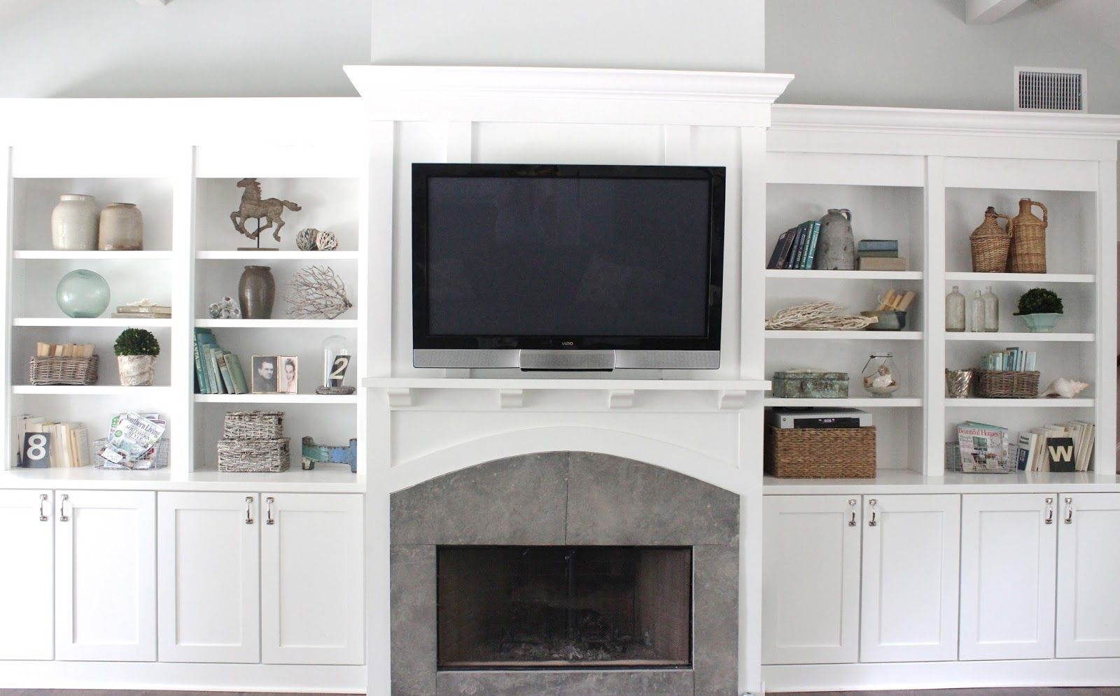 Bookcase decor for the home pinterest living rooms molding